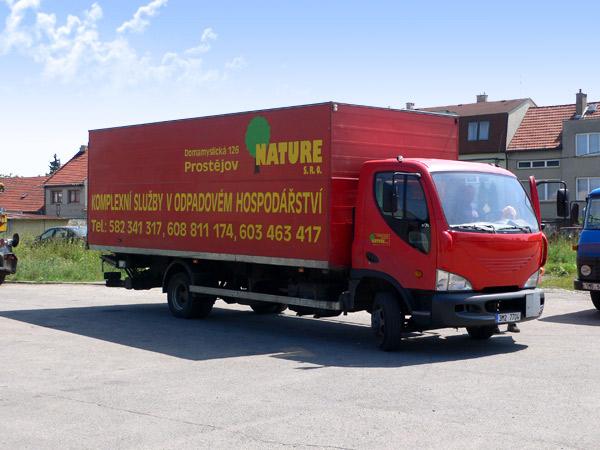 kontejnerová doprava Prostějov, Olomouc