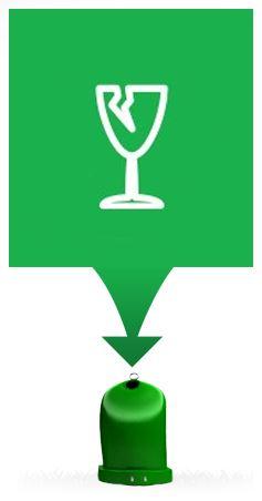 Zelený nebo bílý kontejner - sklo