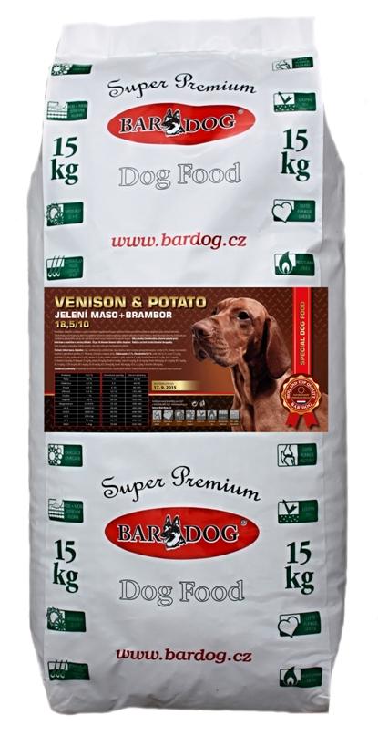 Granule Hypoalergenní Bardog Venison/potato - srnčí s bramborem