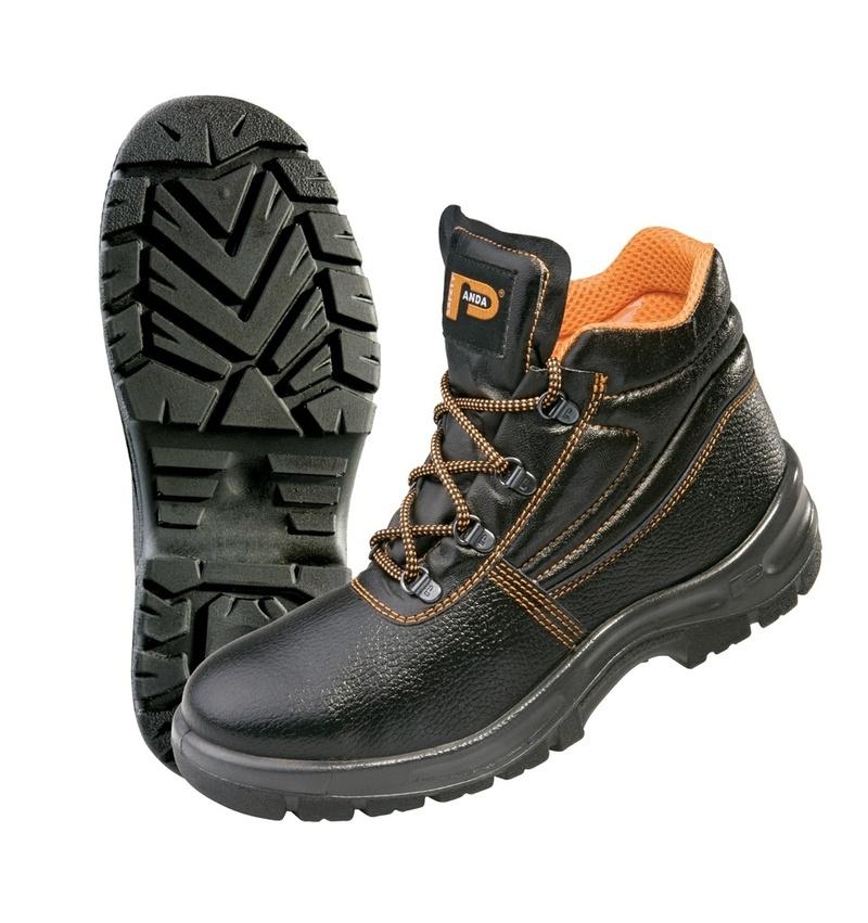 Kotníková pracovní obuv s ocelovou špičkou