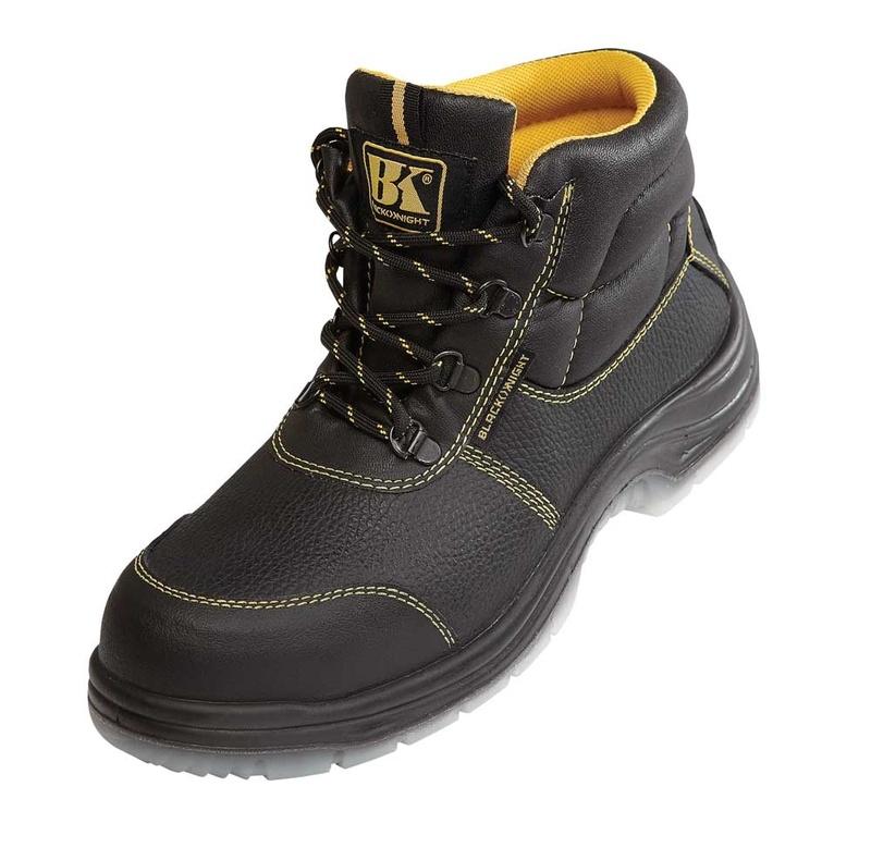 Bezpečná kotníková pracovní obuv s ocelovou špičkou S1
