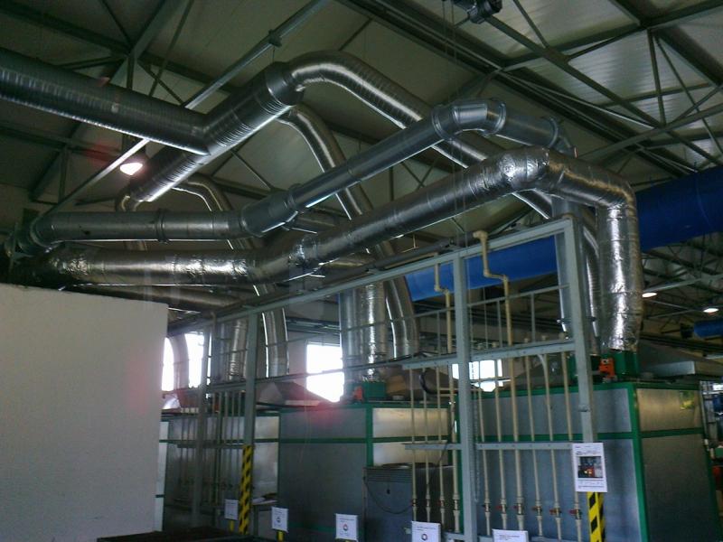 Výroba potrubí z pozinkovaného plechu s lisovanými přírubami | Pardubice