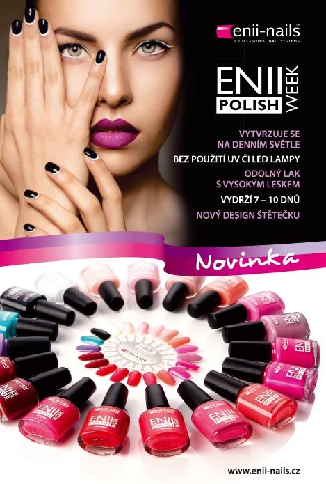 Lak Enii week polish-lak na nehty co vydrží, vytvrzení bez UV lampy