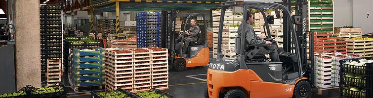Vysokozdvižné vozíky Toyota elektrické
