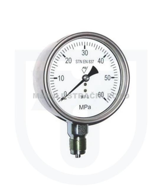Prodej tlakoměry - celonerezový tlakoměr s pružinou