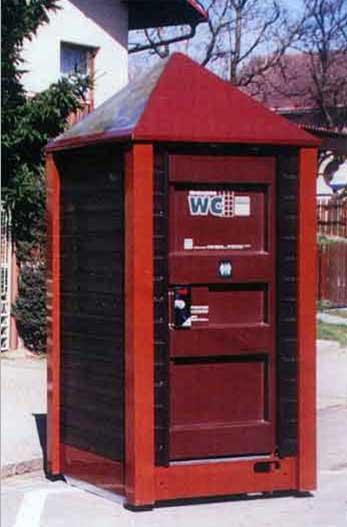mobilní toalety různých druhů
