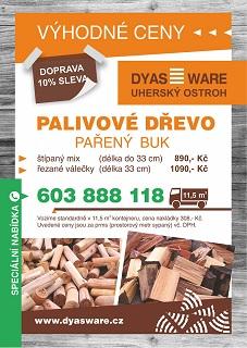 pařené bukové dřevo od Dyas Ware - Uherský Ostroh