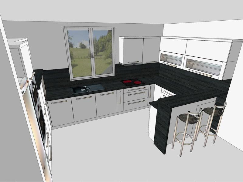 3D návrhy kuchyně Uherský Brod