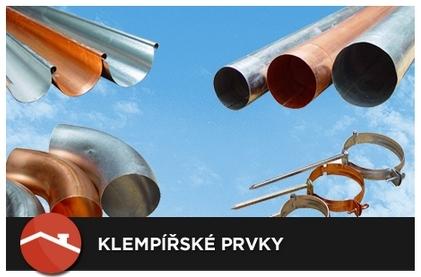 Okapové systémy KTJ, Evromat, Prefa, žlaby střešní, s návalkou dovnitř-výroba, prodej