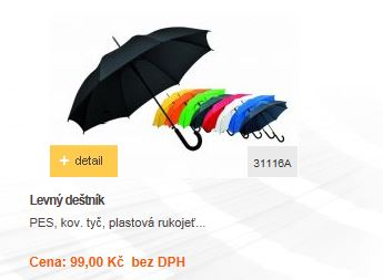 Reklamní předměty E-shop - levné deštníky