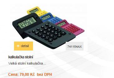 Velká stolní kalkulačka...