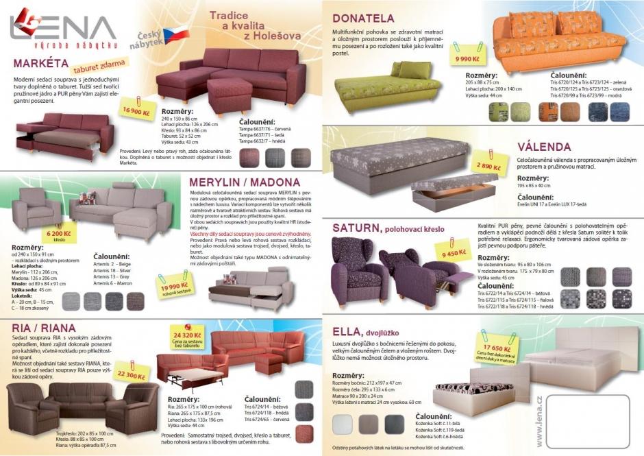 Čalouněné, rohové, rozkládací pohovky, sedačky, dvojlůžka-výroba Zlín, Holešov