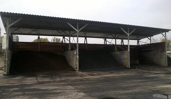Zastřešený sklad uhlí