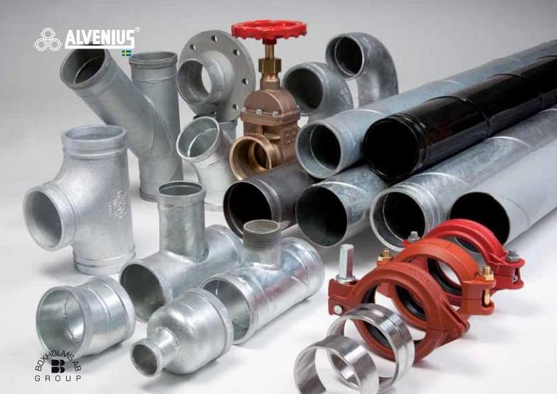 Ocelové potrubní systémy Alvenius - spirálově svařované ocelové trubky