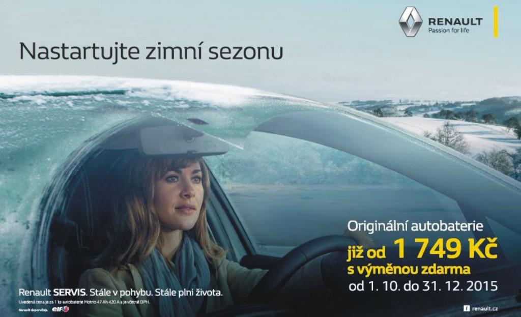 originální autobaterie Renault včetně výměny Olomouc, Šumperk