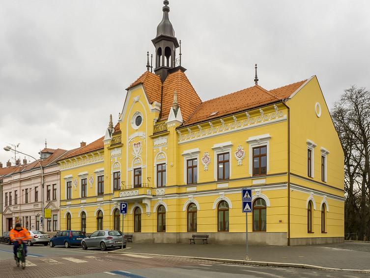 Stavební práce, fasáda Moravský Krumlov