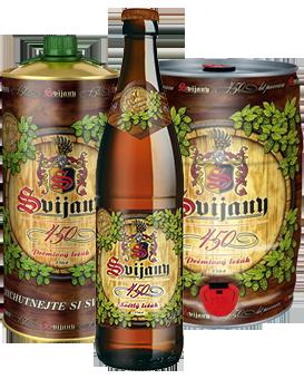 Svijanské pivo 450 - nový nepasterovaný světlý ležák