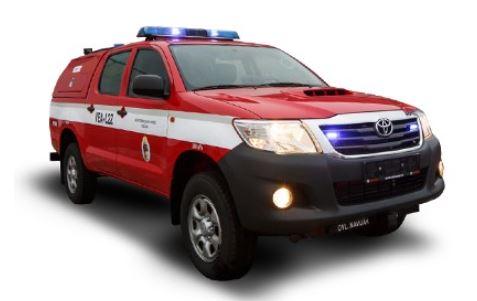 Přestavba vozů Toyota Karlovy Vary - úprava hasičských, sanitních a užitkových aut