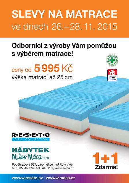 akční leták slev na matrace
