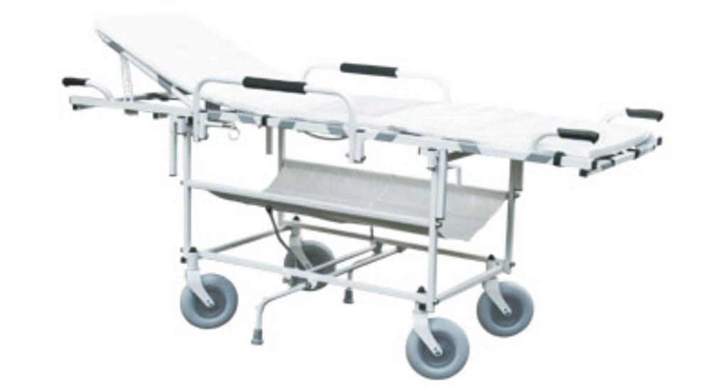 Transportní vozík s nosítky k převozu pacientů