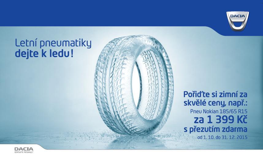 zimní pneumatiky pro vozy Dacia s přezutím zdarma Olomouc, Šumperk