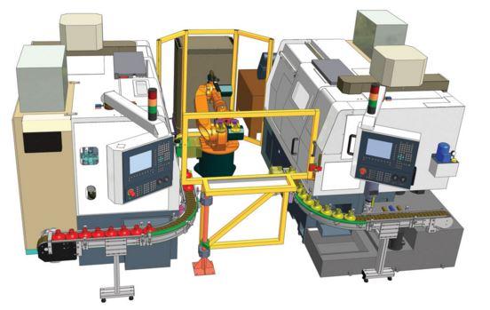 Robotizované pracoviště, automatický soustružnický program