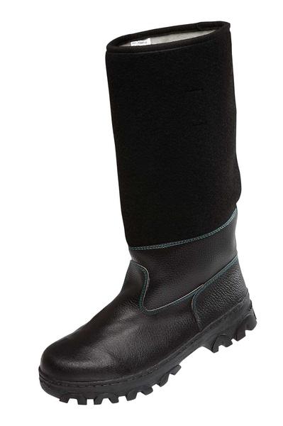 Pracovní obuv holeňová koženofilcová