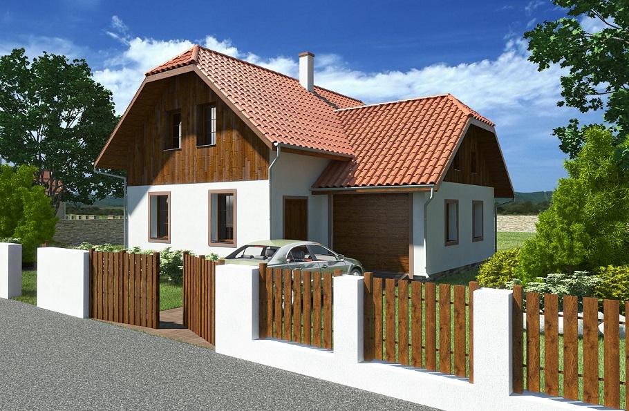 Rodinný dům na bázi dřevostavby