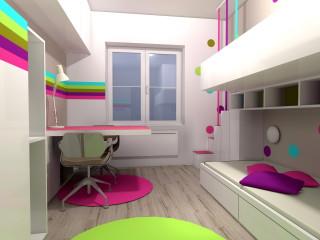 interiérový design dětského pokoje Znojmo