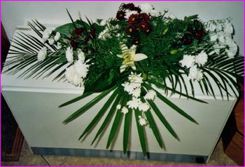 aranžmá z živých květin