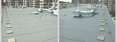 Hydroizolace plochých střech, balkonů, terasy Kroměříž, Přerov-asfaltové pásy, Fatrafol