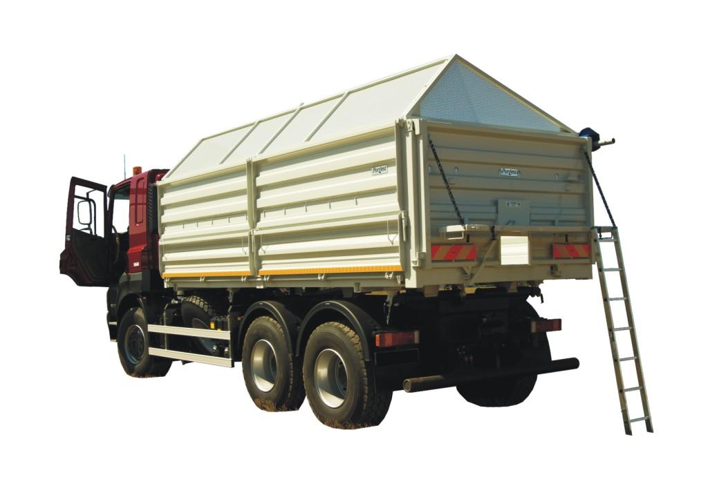 Sklápačové korby - poľnohospodárske prestavby a nadstavby nákladných vozidiel