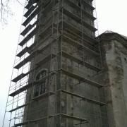 Rekonstrukce církevních staveb - kopule kaple, nosné části krovu