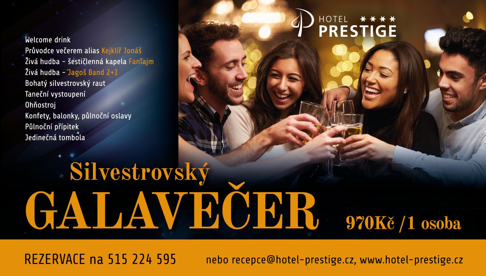 Silvestrovská akce, přivítání nového roku v hotelu Znojmo