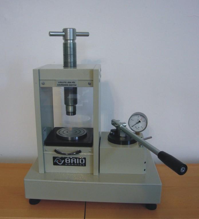 Laboratory presses - production of hand, power hydraulic press, the Czech Republic