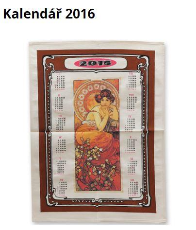 Textilní kalendář - utěrka