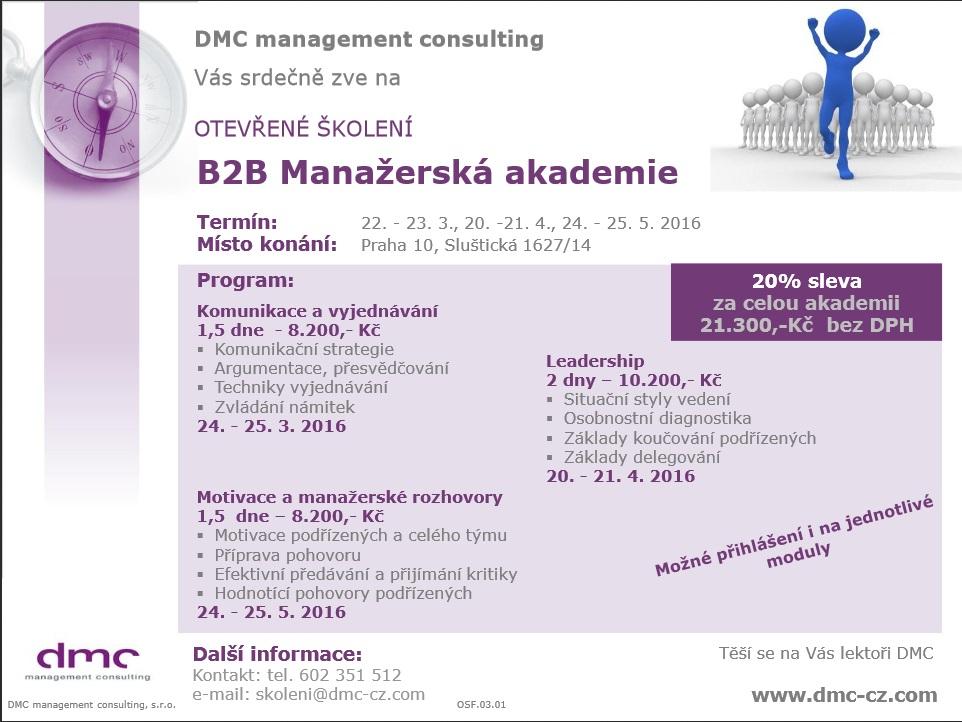B2B Manažerská akademie pozvánka