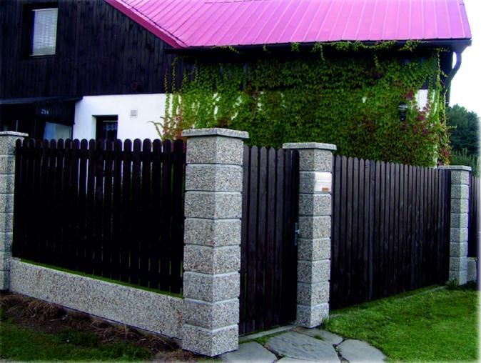 Zahradní ploty z betonu, umělého kamene
