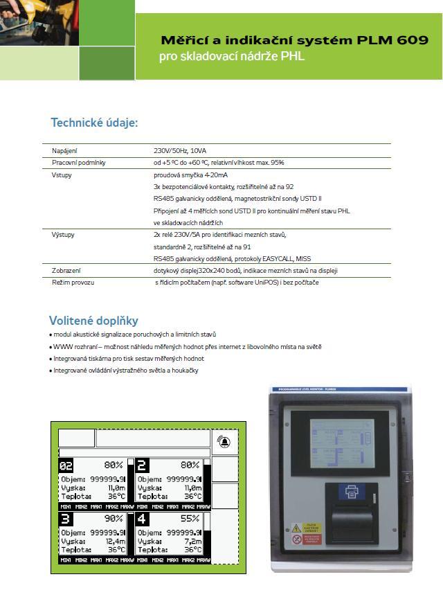 PLM609 - kontinuální měření stavu PHM