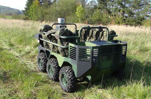 Robotické pozemní systémy - vysoce automatizovaný kolový robot pro armádu