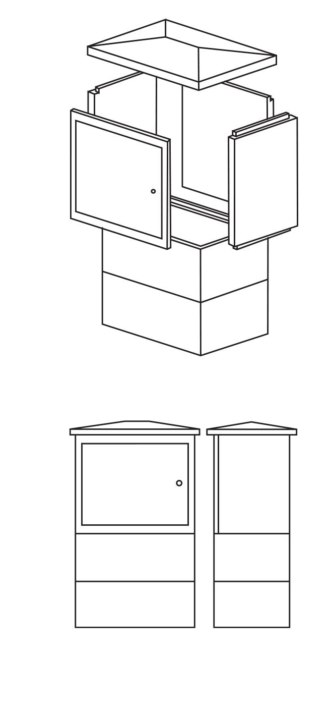 Plynové skříně Náchod, armovaná betonová stavebnice Červený Kostelec