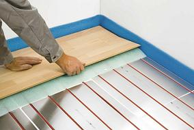 Podlahové topení inteligentní systém pomocí samoregulačního topného kabelu T2Red
