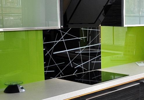 Realizace barevných skel do kuchyně Praha, Liberec
