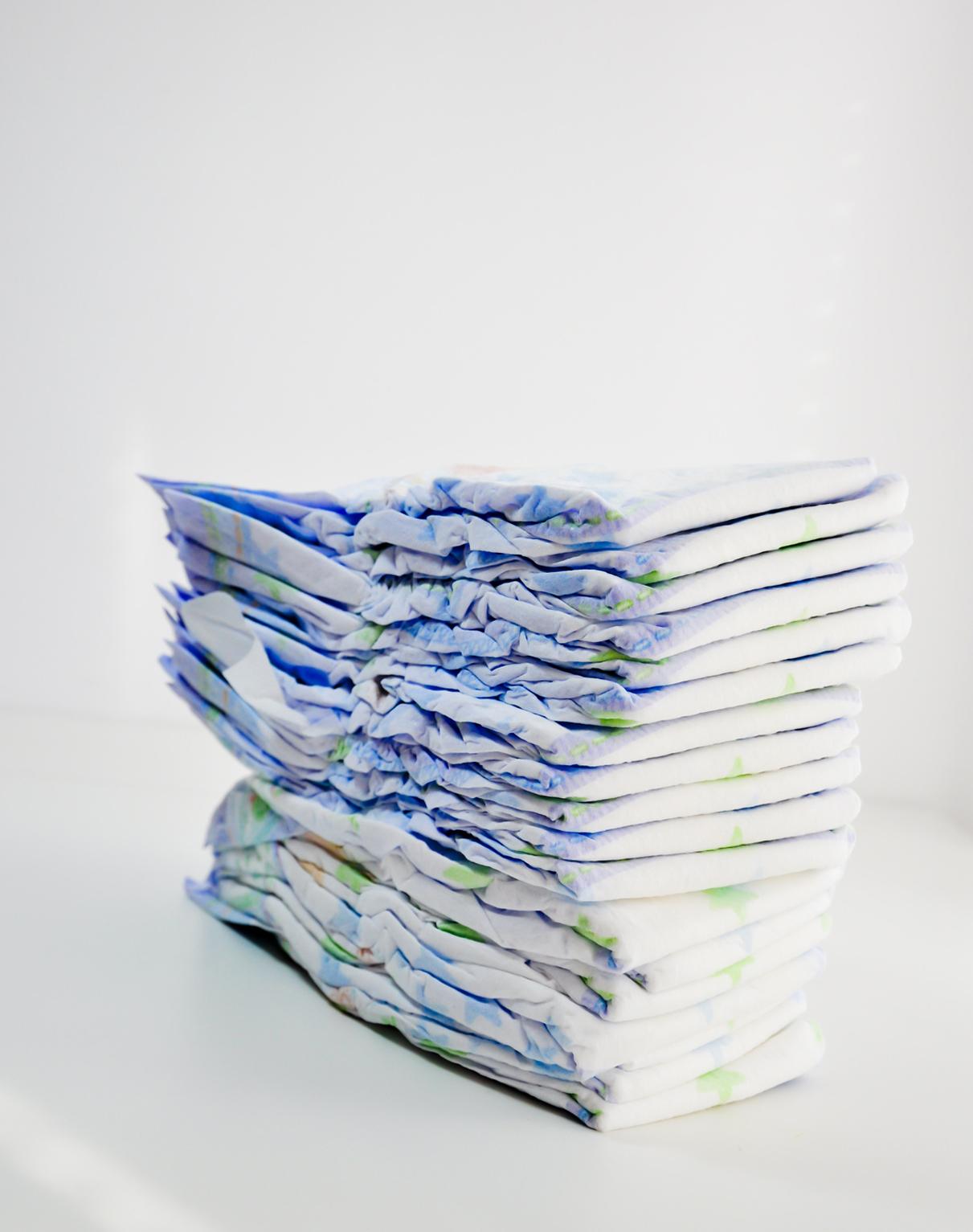 Polyesterová vlákna TESIL v dětských plenách a produktech osobní péče
