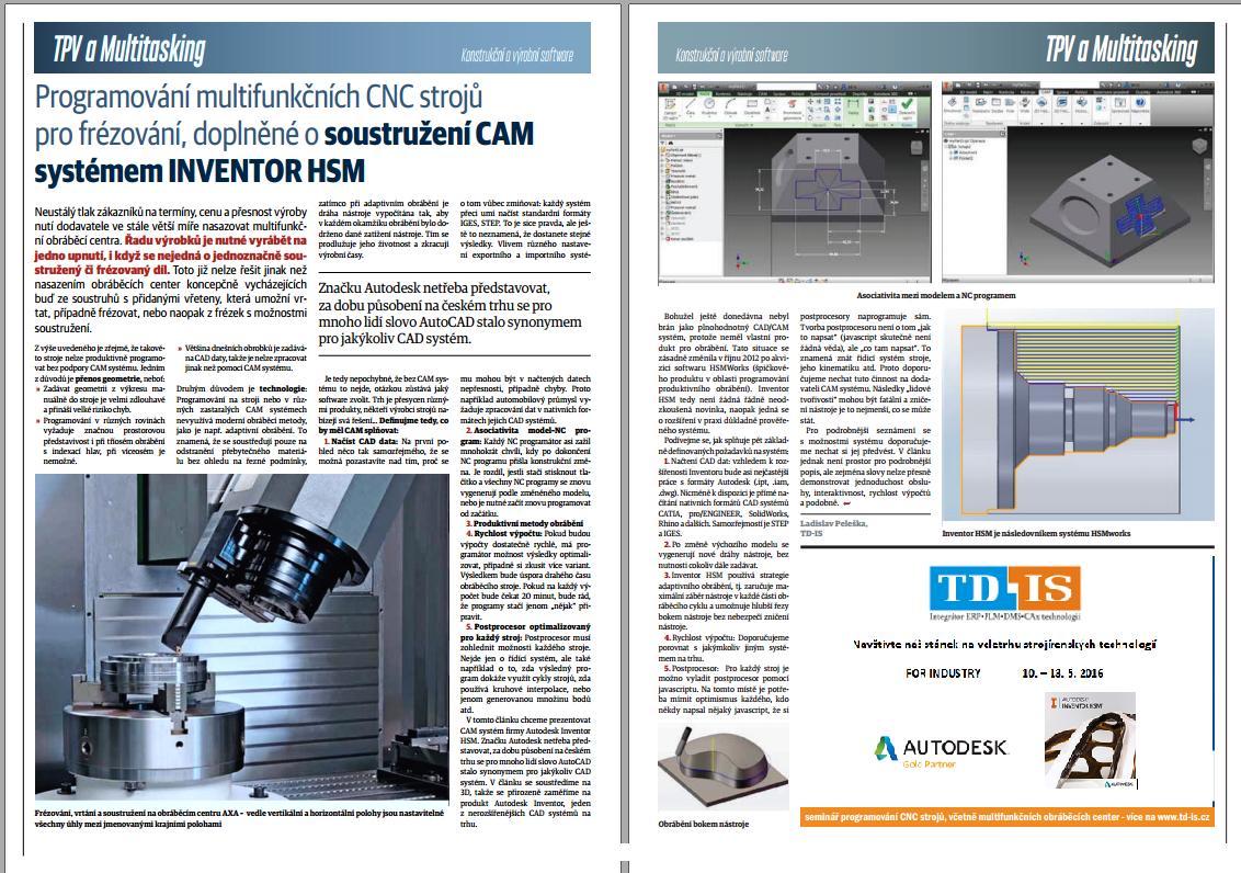 CAD/CAM, který převezme kontrolu vašeho CNC obrábění