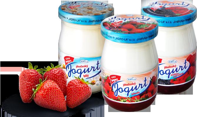 Lahodné Jihočeské jogurty ve skle od AGRO-LA, Jindřichův Hradec