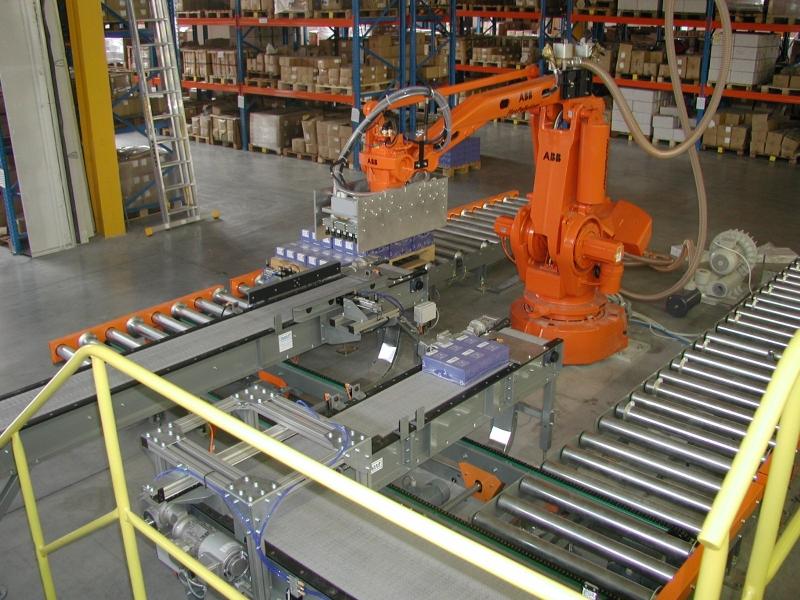 Robotizované pracoviště pro paletizaci