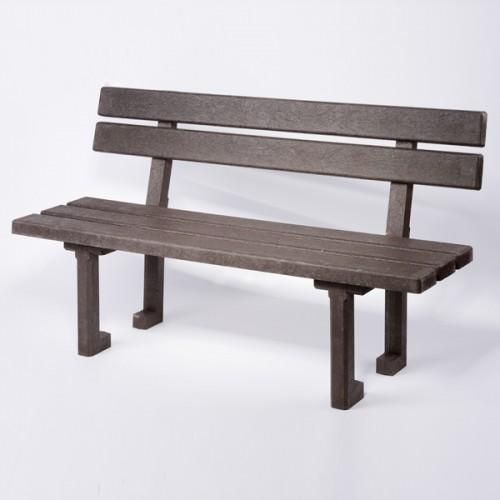 Plastová lavička s opěradlem