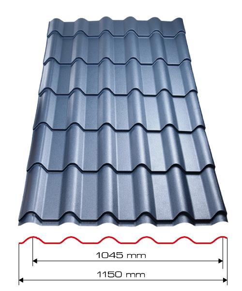 Plechová střecha Tornero