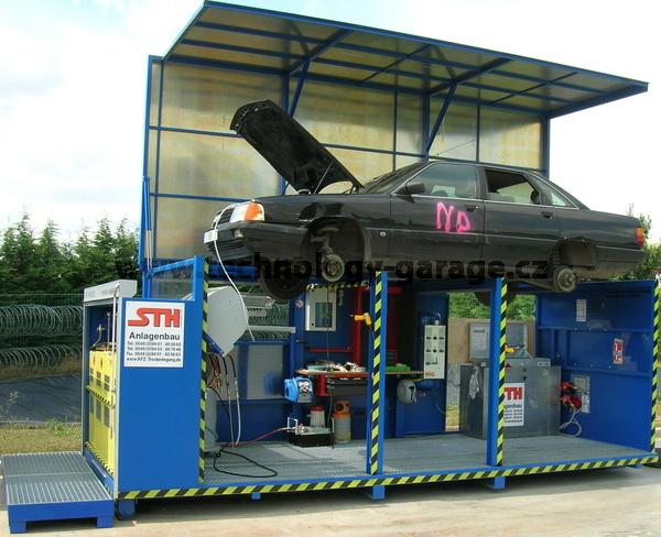 Mobilní linka odsávání provozních kapalin z autovraků STH 12/B2014